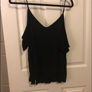 Black off the shoulder t shirt